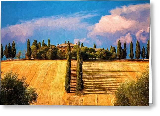 Tuscany Estate Greeting Card
