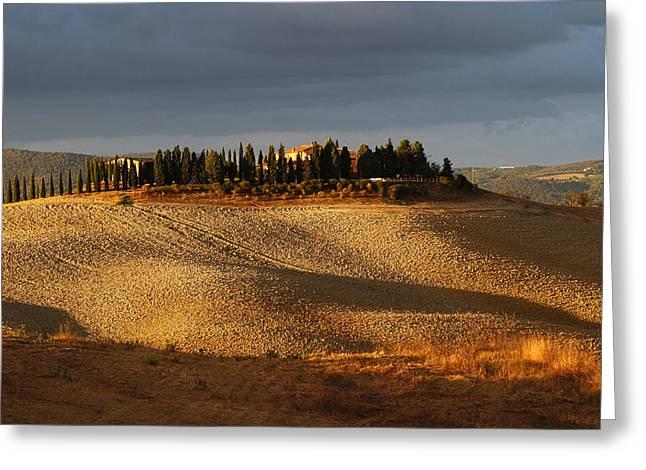 Tuscany Hills Greeting Card by Alex Sukonkin