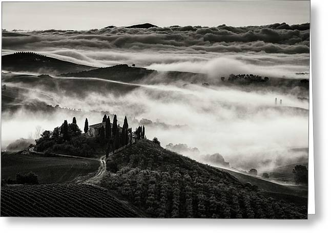 Tuscany Greeting Card by Nina Pauli