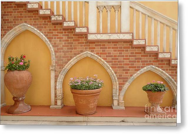 Tuscany Style Welcome Greeting Card by Ann Johndro-Collins