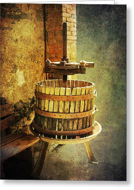Tuscany Wine Barrel Greeting Card