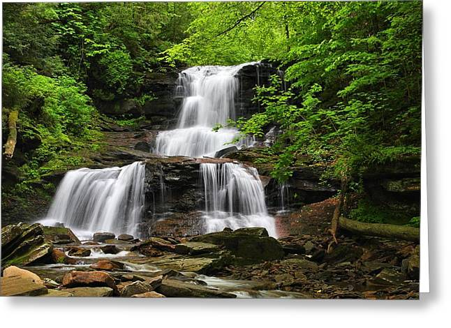 Tuscarora Falls Greeting Card by Mike Farslow