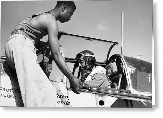 Tuskegee Airmen, C1943 Greeting Card by Granger