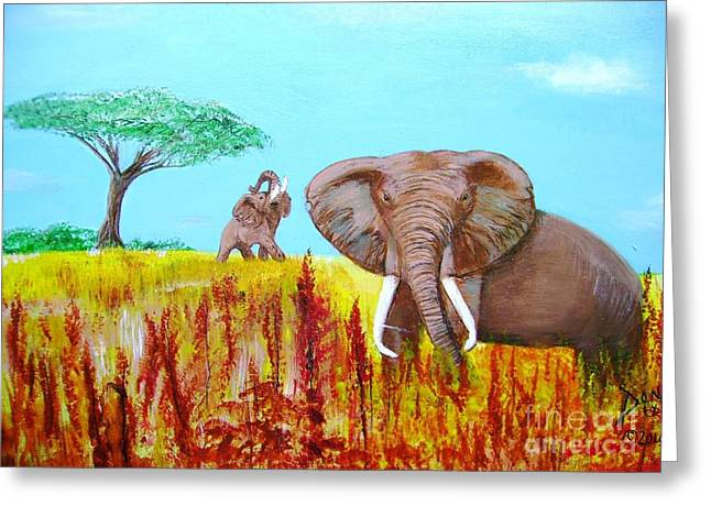Tusks2 Greeting Card