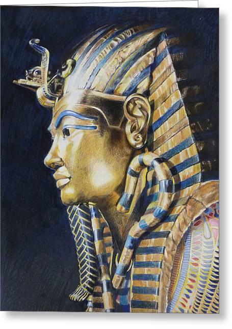 Tutankhamon Greeting Card by Constance Drescher