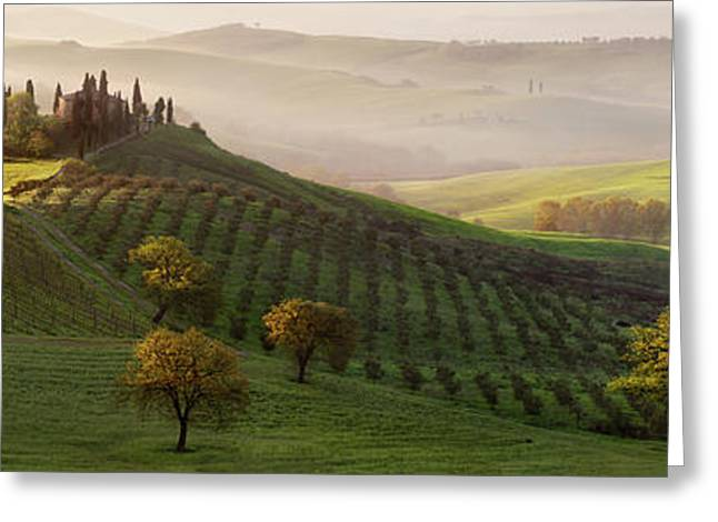 Tutte Le Strade Portano A Belvedere Greeting Card by Margarita Chernilova
