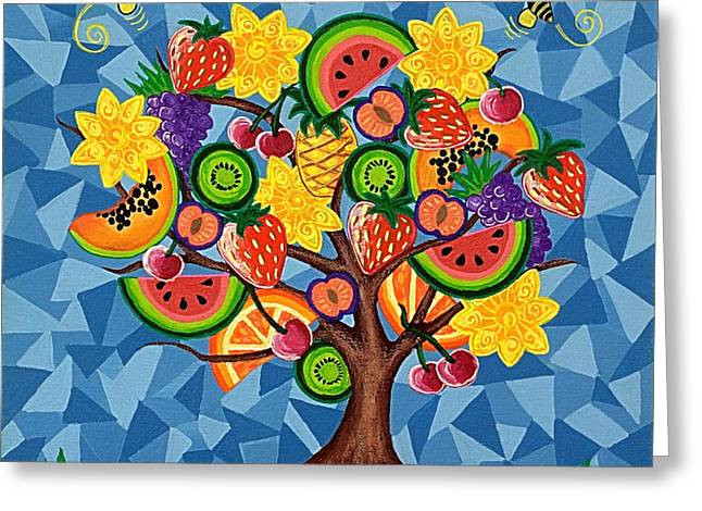 Tutti Fruitti  Greeting Card by Lisa Frances Judd