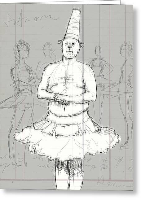 Tutu Man Greeting Card by H James Hoff