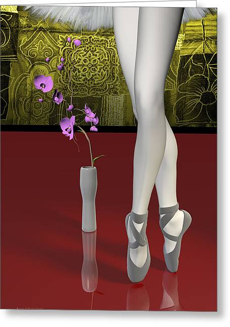 Tutu To Toe Shoes - Red Greeting Card by Andre Price
