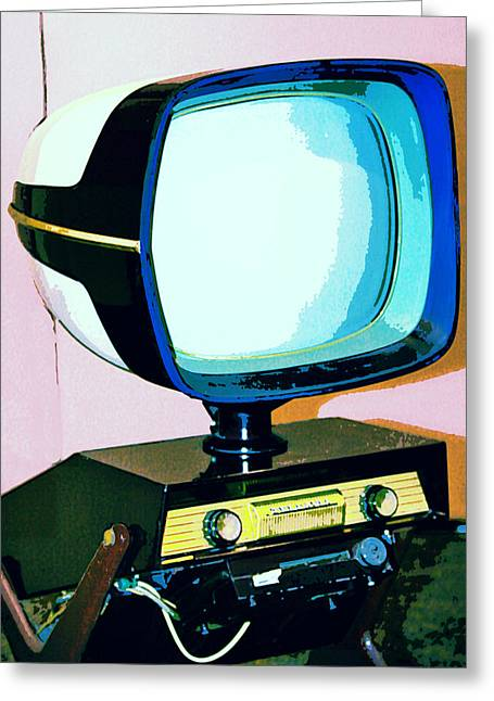 Tv Land Palm Springs Greeting Card by William Dey