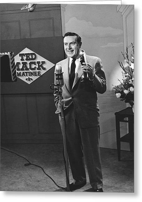 Tv Personality Ted Mack Greeting Card by Underwood Archives