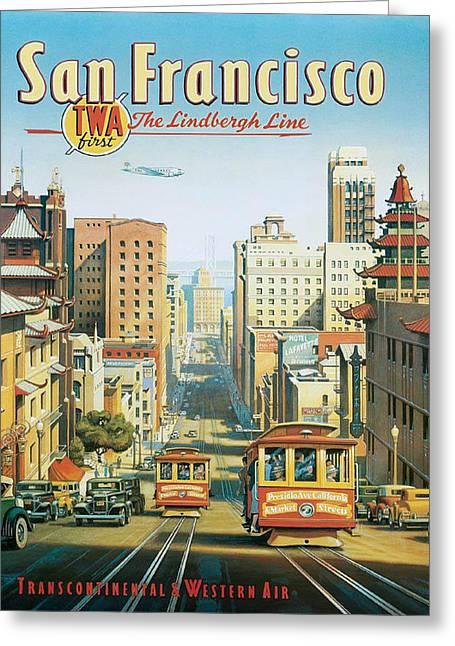Twa To San Francisco Greeting Card