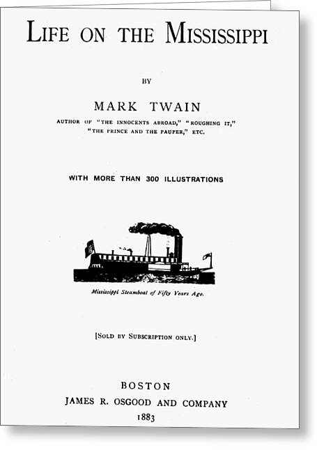 Twain Title Page, 1883 Greeting Card