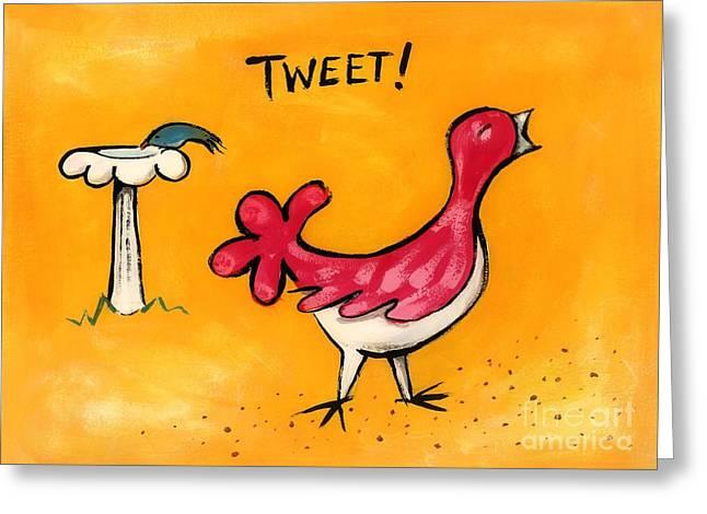 Tweet Greeting Card by Diane Smith