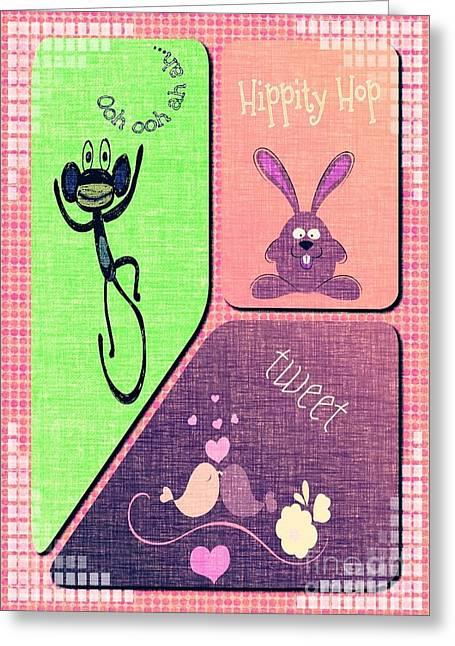 Tweet Tweet Greeting Card by Cindy McClung