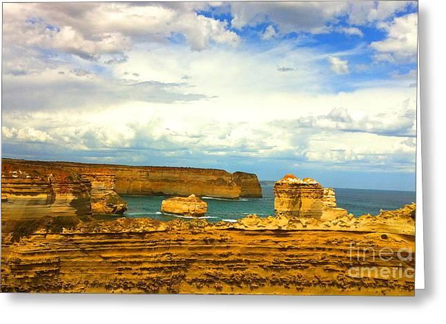 Twelve Apostles Beach In Austarlia Greeting Card by Juan Jiang