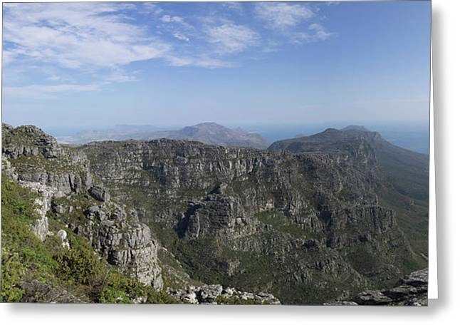 Twelve Apostles Mountains Seen Greeting Card by Panoramic Images