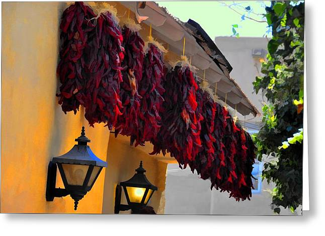 Twelve Ristras Greeting Card by Jan Amiss Photography