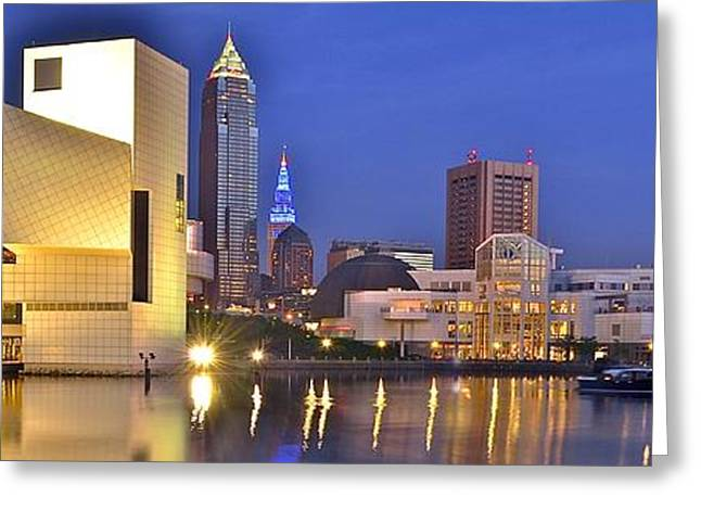 Cleveland Nightlife Greeting Card