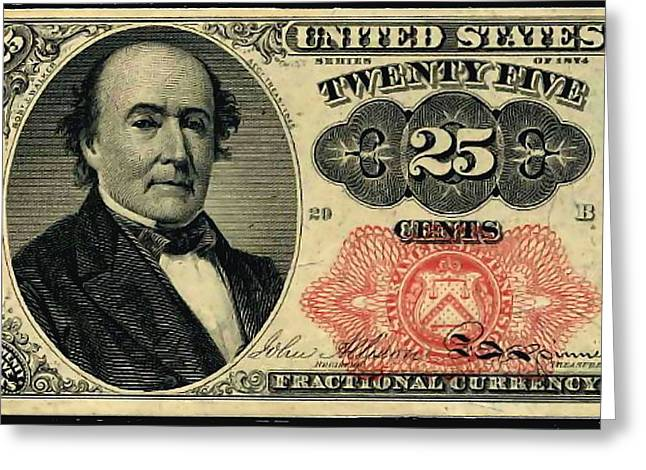 Twenty Five Cents 5th Issue U.s. Fractional Currency Greeting Card