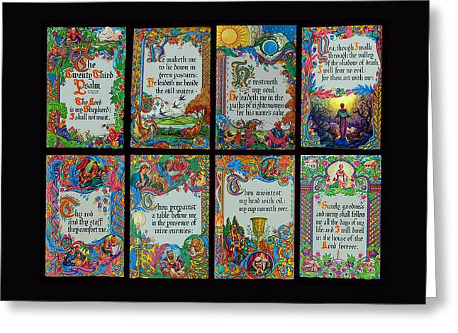 Twenty Third Psalm Collage 2 Greeting Card by Tikvah's Hope