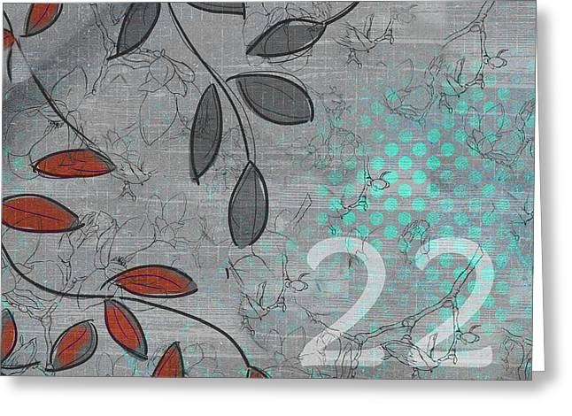 Twenty-two - 20b Greeting Card by Variance Collections