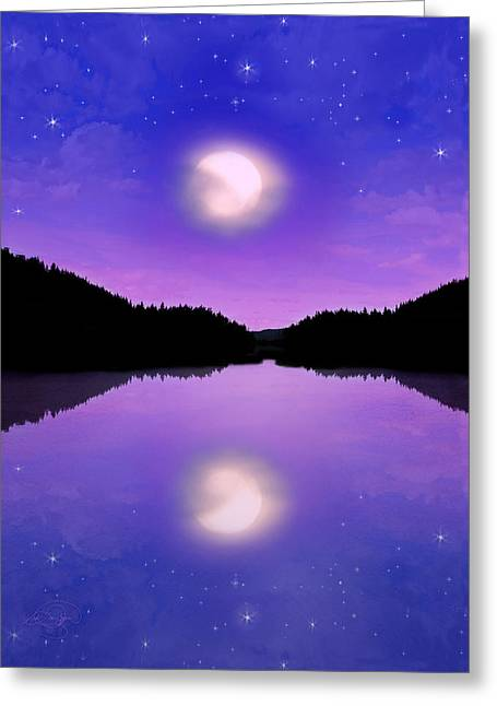 Twilight And The Moon Greeting Card