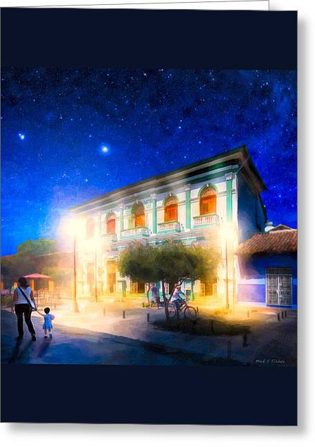 Twilight And The Streets Of Granada Greeting Card