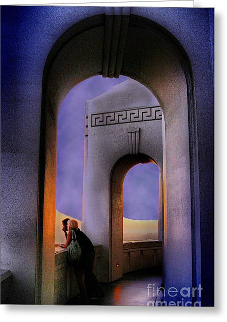 Twilight Arches Greeting Card