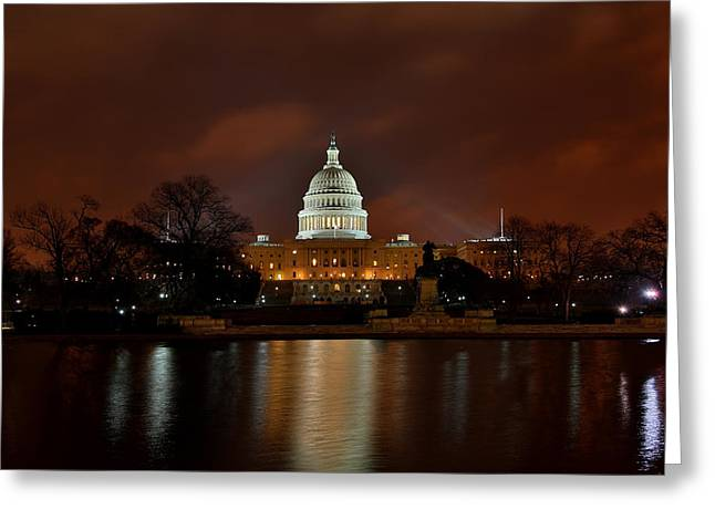 Twilight At The Capitol Greeting Card