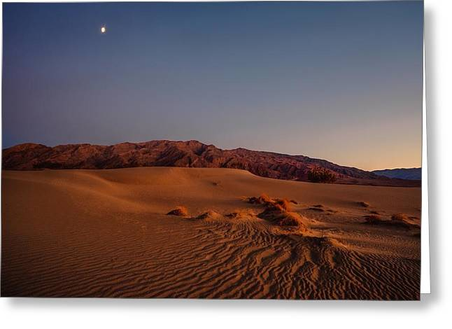 Twilight At The Dunes  Greeting Card
