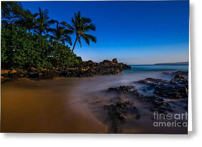 Twilight Beach Greeting Card by Jamie Pham