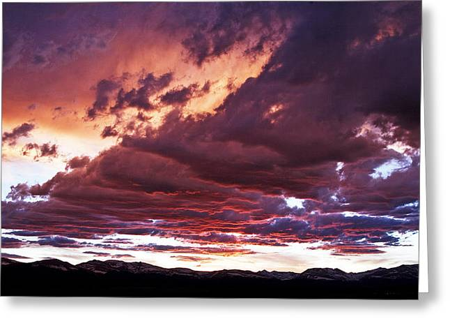 Twilight Colours Greeting Card by Patrick Derickson