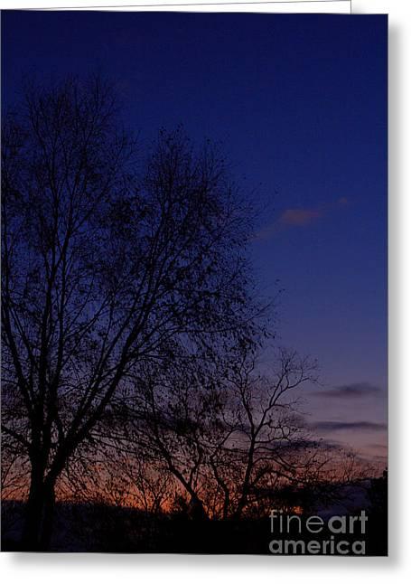 Twilight Crack Of Dawn Greeting Card