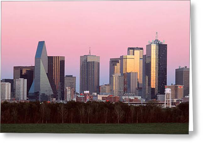 Twilight, Dallas, Texas, Usa Greeting Card by Panoramic Images