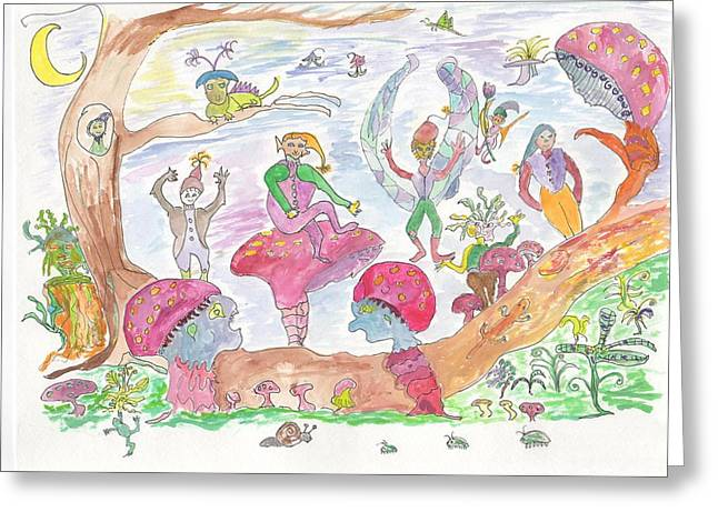 Twilight Faery Glen Greeting Card by Helen Holden-Gladsky