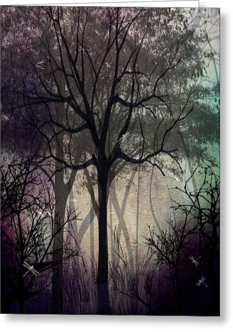 Twilight Forest Greeting Card by Charlene Zatloukal