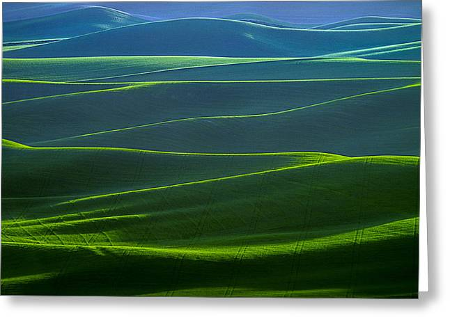 Twilight Hills Of The Palouse Greeting Card