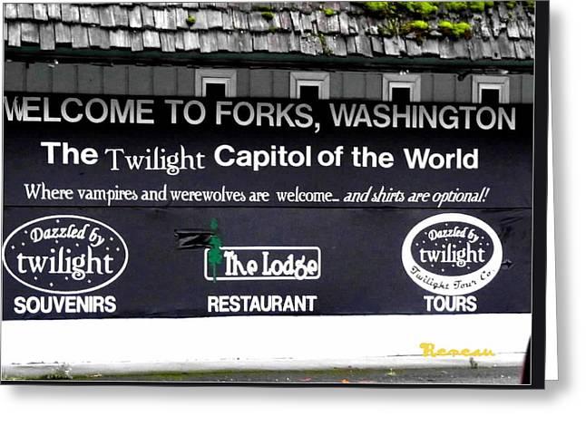 Twilight In Forks Wa 5 Greeting Card
