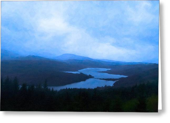 Twilight In Scotland - Loch Garry Greeting Card by Mark E Tisdale