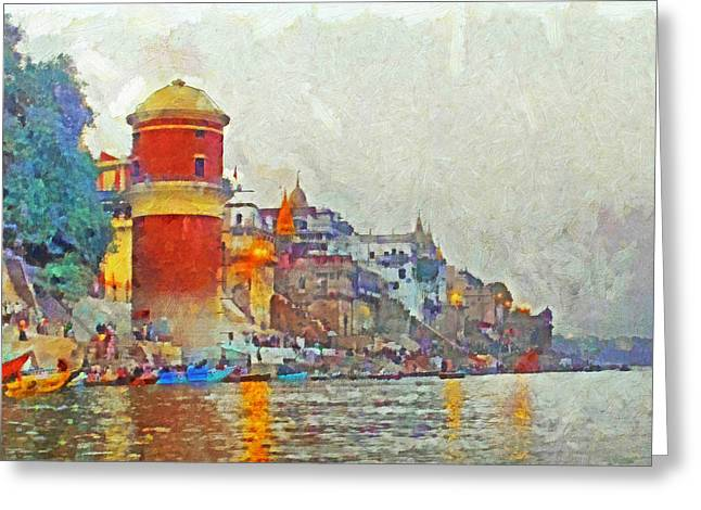 Twilight In Varanasi Greeting Card
