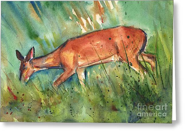 Twilight Greeting Card by Maria's Watercolor