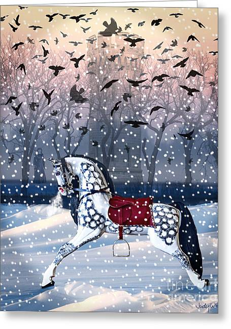 Twilight Mystery-winter Greeting Card by Judy Wood