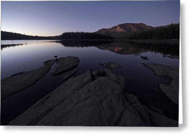 Twilight On Silver Lake Greeting Card