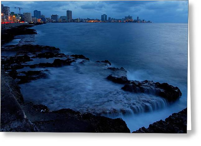 Twilight On The Malecon Greeting Card