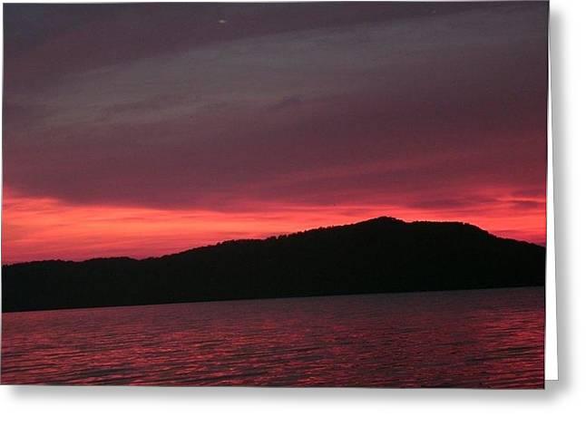 Twilight Over Cave Run Lake  Greeting Card