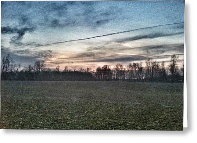 Twilight Over Southern Ohio Greeting Card