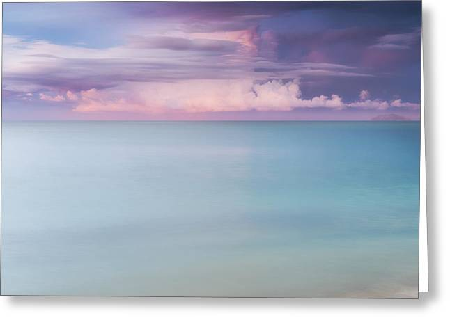 Twilight Over The Atlantic Greeting Card