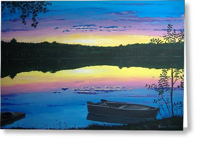 Twilight Quiet Time Greeting Card by Norm Starks