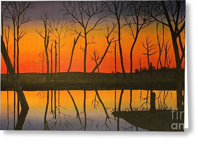Twilight Reflections Greeting Card by Lee Alexander
